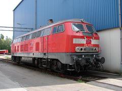 218 022 im Ausbesserungswerk (Aw) Bremen-Sebaldsbrück
