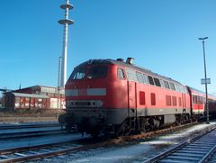 218 158 im Bahnhof Soltau