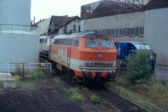 218 in den Farben der Bergischen City Bahn