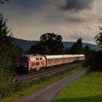 218-Wendezug auf der Hochrheinbahn (bearbeitet und neu hochgeladen)