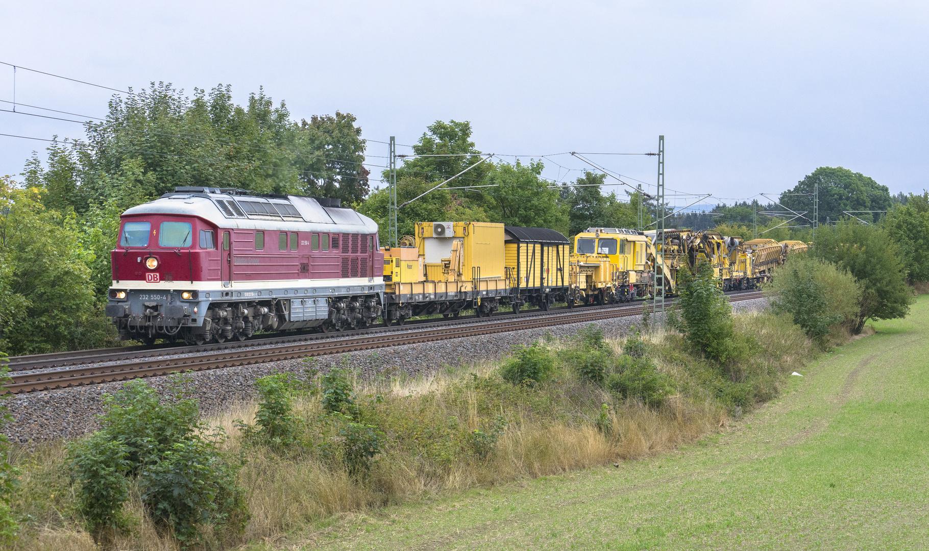 232 550 der DB Bahnbaugruppe im Vogtland