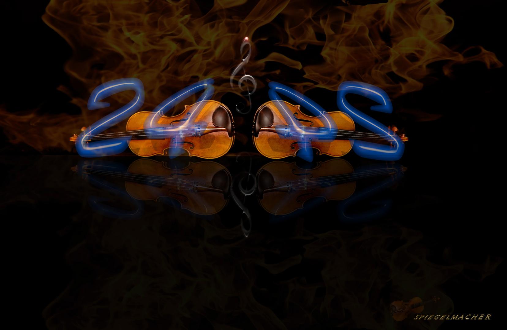 24 Thema Geige stimmen