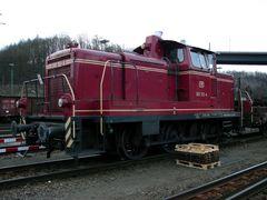260 312 der Efw im Saarbrückener Rbf im Baudienst.