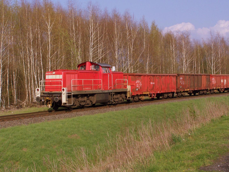 294 603 auf der Georgsmarienhütten-Eisenbahn bei Hasbergen ...