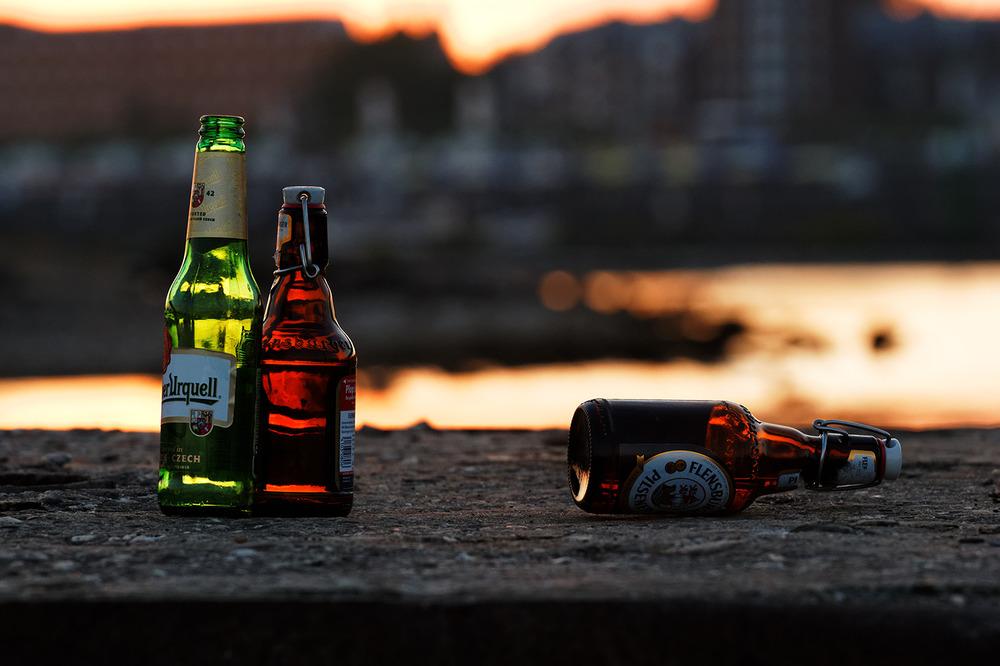 3 Flaschen in der Früh