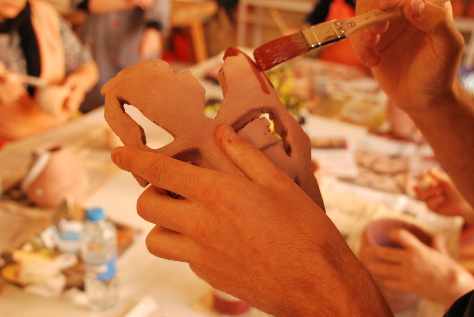 3 Pintado RAKU Ceramica Japonesa