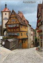 '' 3.) Rothenburg ob der Tauber,am Plönlein ''