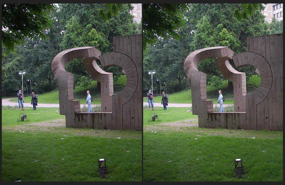 3 Skulpturen, 3 Personen