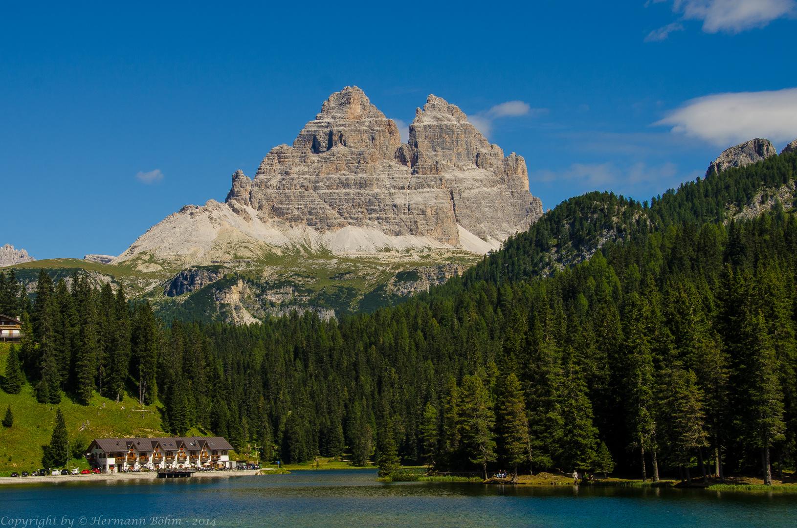 3 Zinnen Misurina See Südtirol