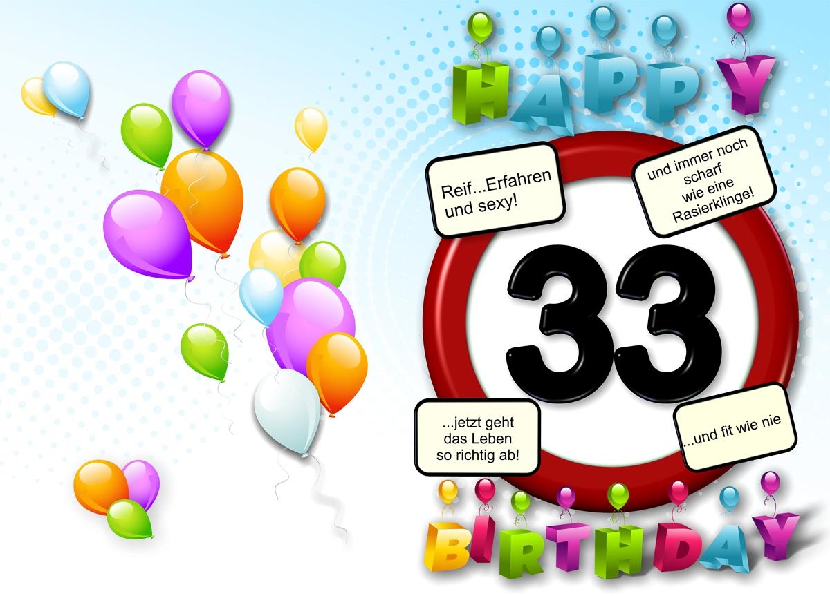 33 Geburtstag