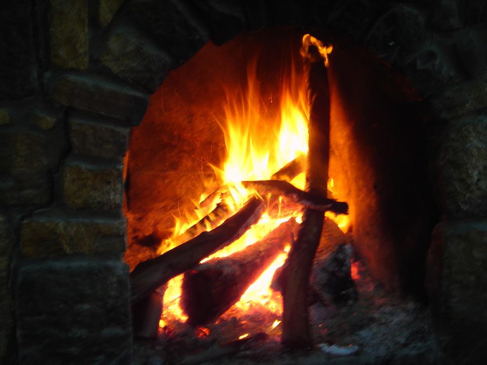 şömine ateşi