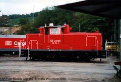 360 159-8 im Bw Würzburg 1998