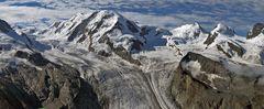 360 Grad Panorama in 6 Aufnahmen Teil 2 oberhalb vom Gornergrat...