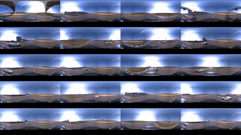 360° immersive Porsche GT3 panoramic videoscreenshot