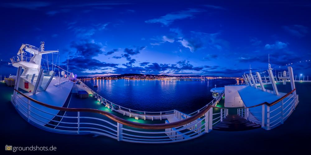 360° Porto Pi, Palma de Mallorca vom Schiff aus