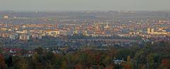 38 Minuten vor Sonnenuntergang ist heute dieser Dresdenblick ins Zentrum entstanden...
