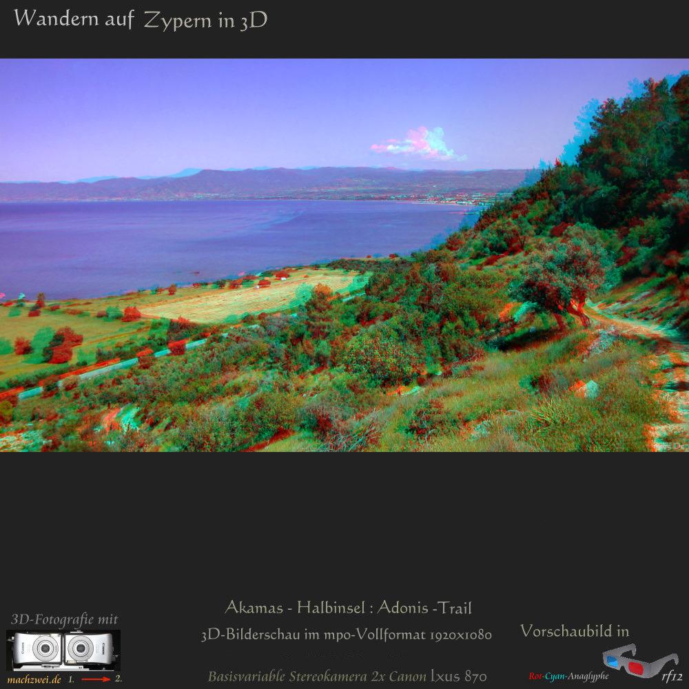3D-Bilderschau Zypern: Der Adonis-Trail / Akamas + Bilderschau in VollHD für 3D-TV ua.