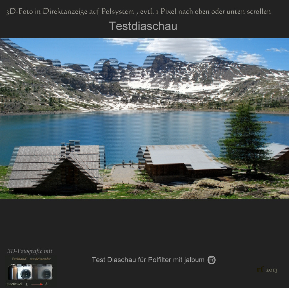 3D Diaschau mit Polumschaltung jAlbum