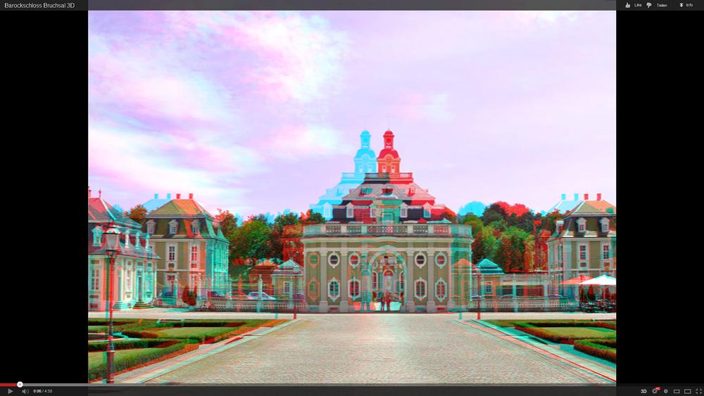"""3D-Diashow """"Barockschloss Bruchsal"""" (YouTube-Link)"""
