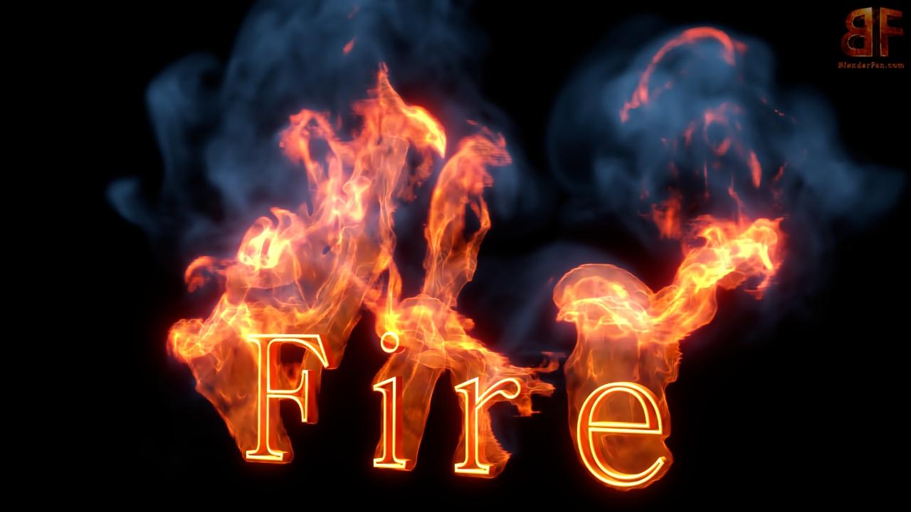 3d Firetext Fire