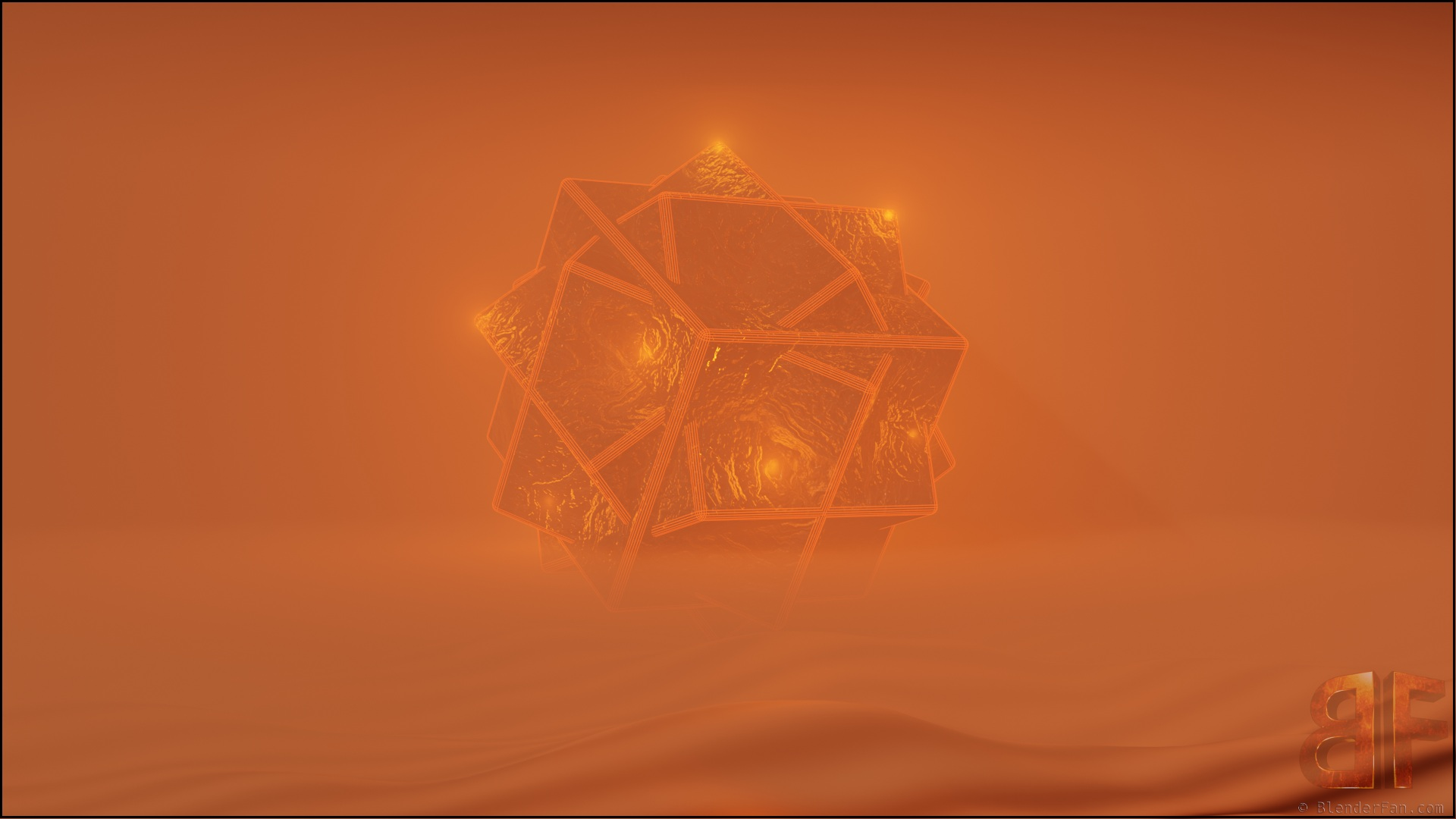3d object in the fog