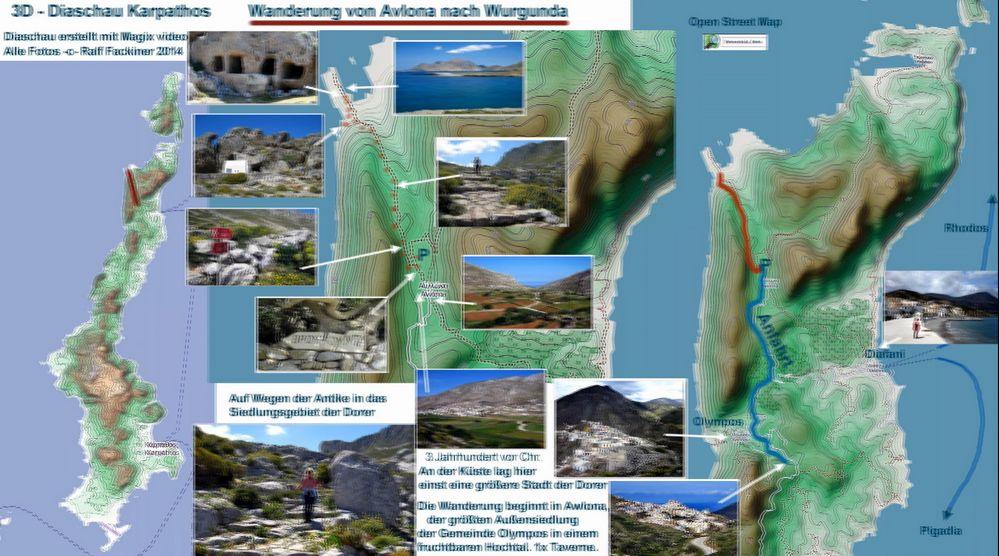 3D ULTRA Diaschau Karpathos : Link + Karte Wurgunda -