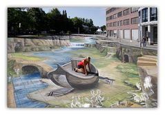 3D Weltrekord der Straßenmaler in  Wilhelmshaven 2012 Bild 2