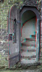 3D Zugang von außen zum Turm. (Burg Linn)