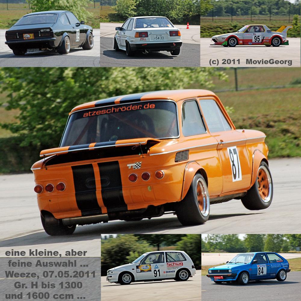 3.DM Auto-Slalom Weeze, Reg. Nord, 07.05. 2011, Gr. H bis 1300 & 1600 ccm ...