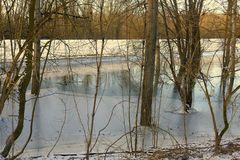 3fach-Spiegelung:Wasser,Eis,Schnee