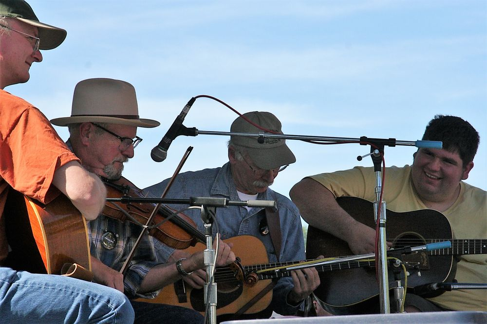 4 Musiker Folklife Seattle USA