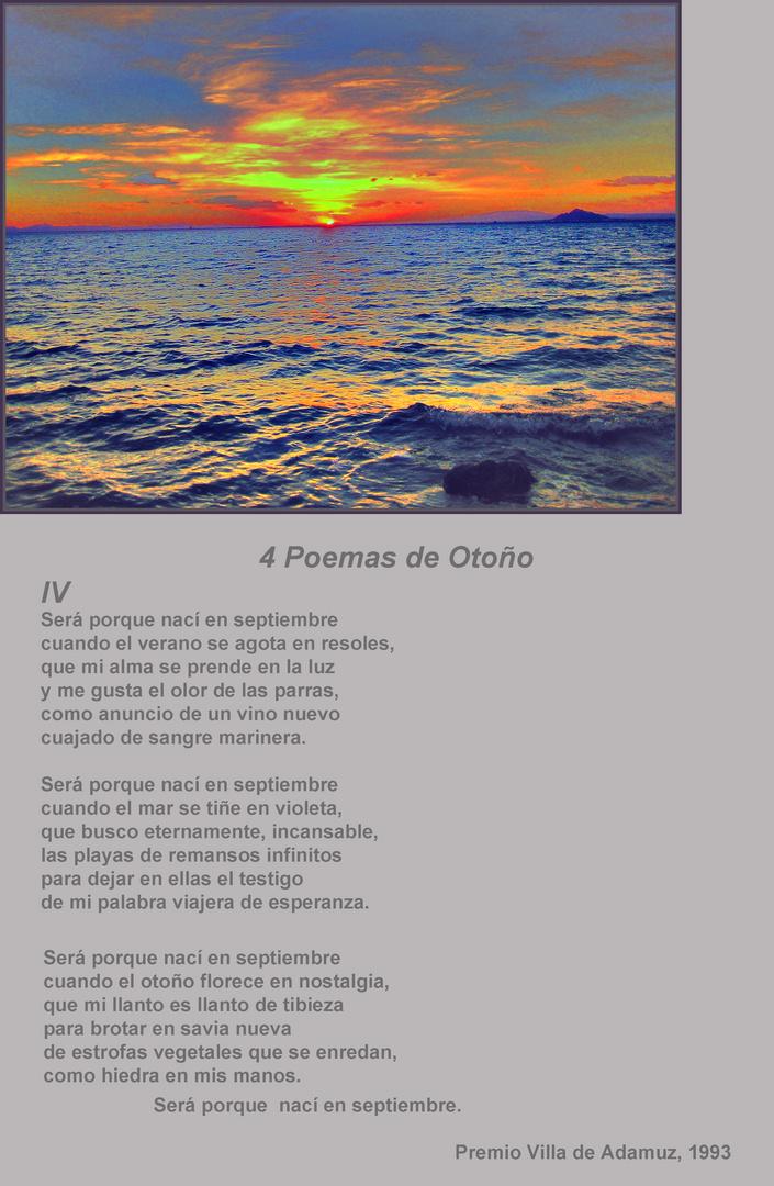 4 Poemas de Otoño. IV Será porque nací en septiembre