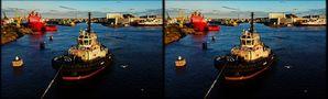 Edinburgh  Hafen Schlepper  (3D-X-View) von 3D-Wolfgang