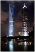 492 m - Shanghai World Financial Center; 421 m - Jin Mao Building, Shanghai
