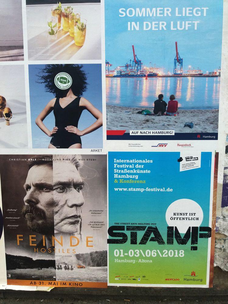 4mal HAMBURG Aktuell Plakate 2018-06-03  2mal col J5 Miethaie +Wenders