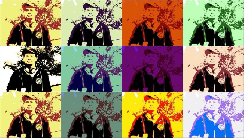 4x3/ bunt a la Warhol..