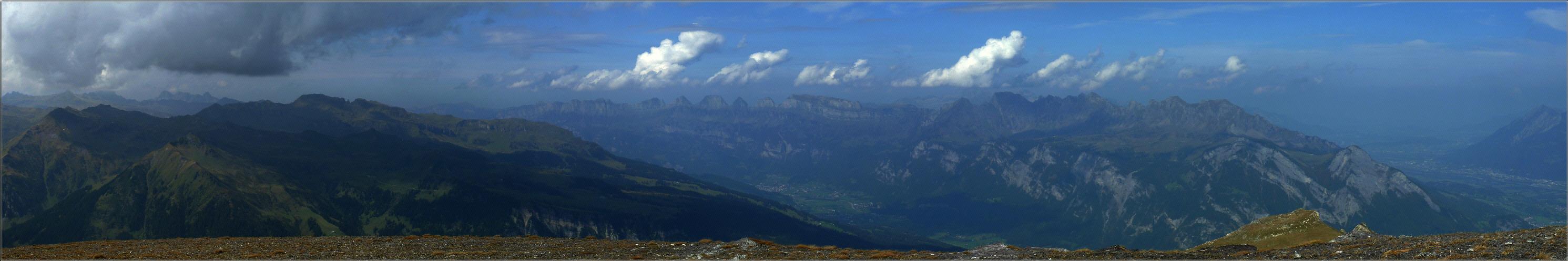 5 Seen Wanderung Panorama vom Schwarzplangg