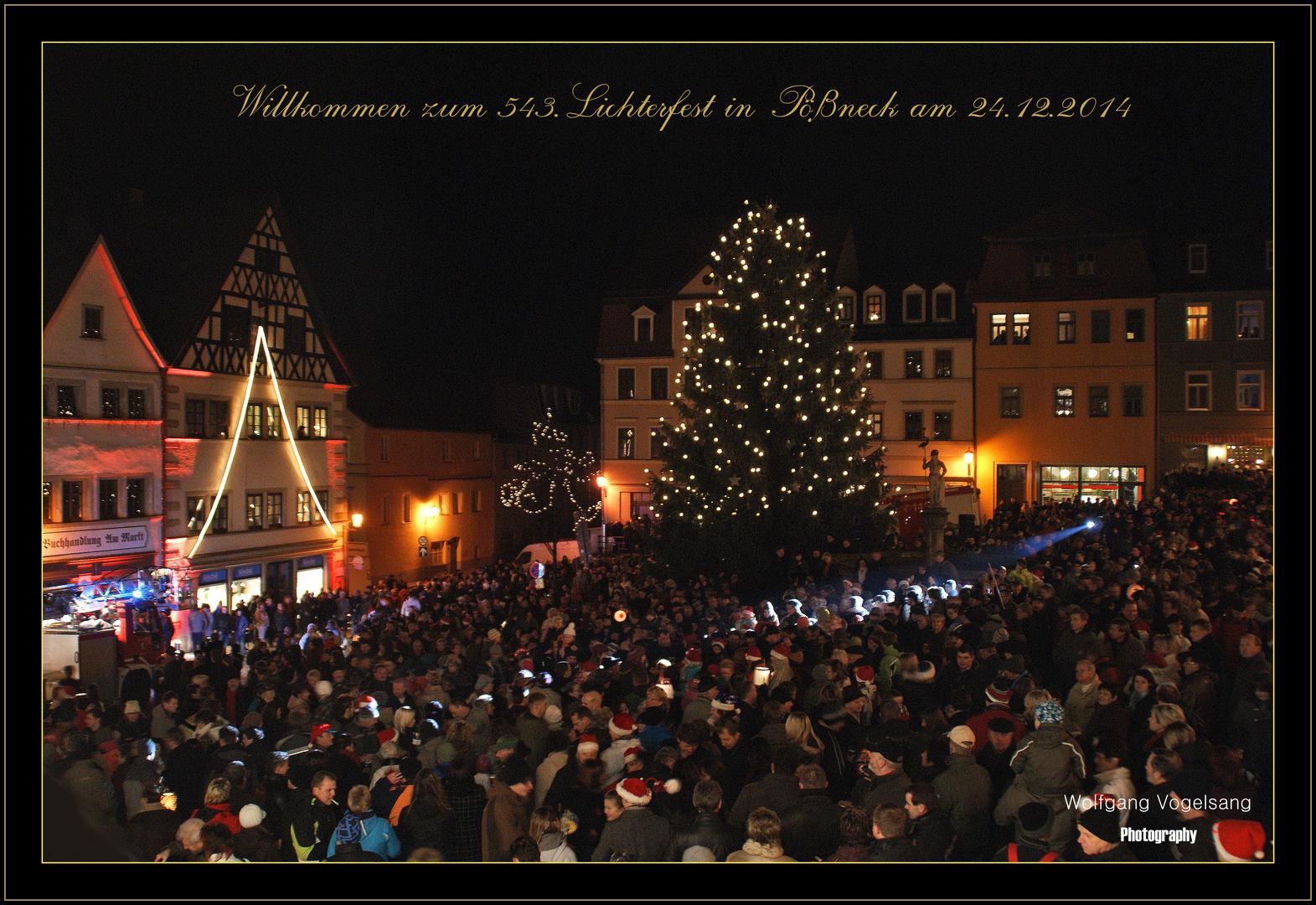 543.Lichterfest in Pößneck 2014
