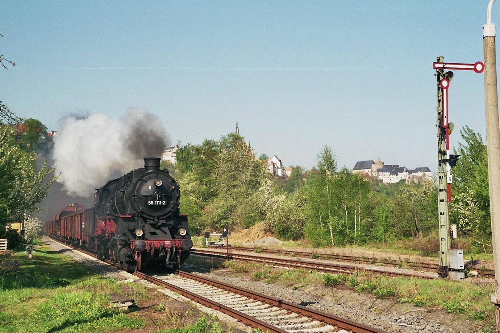 58 311 vor Stadtblick in Leisnig