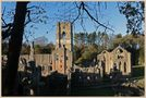 fountains abbey at sunset 15 by markkeville