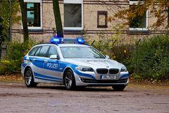 5er BMW der Polizei Hamburg zurzeit stationiert am PK33