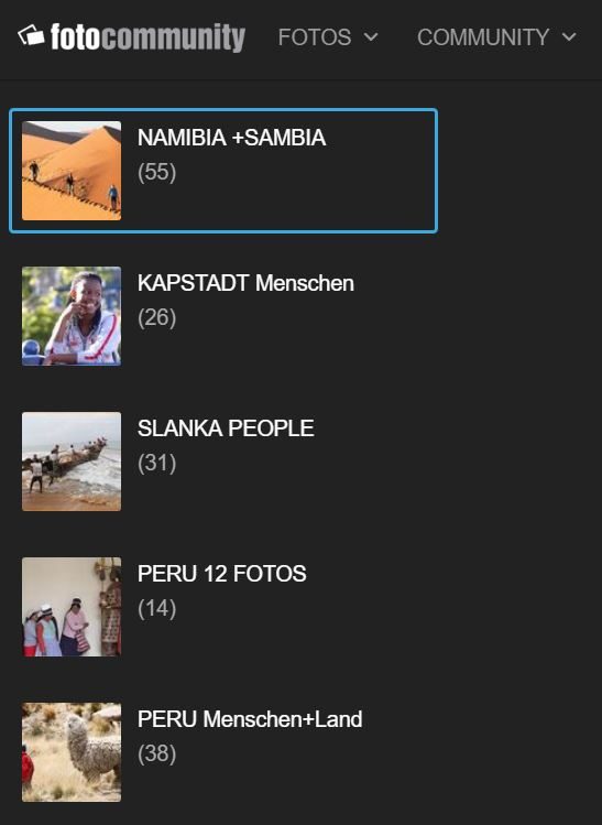 5REISEN NAMBIA +KAPSTADT +SRILANKA +PERU