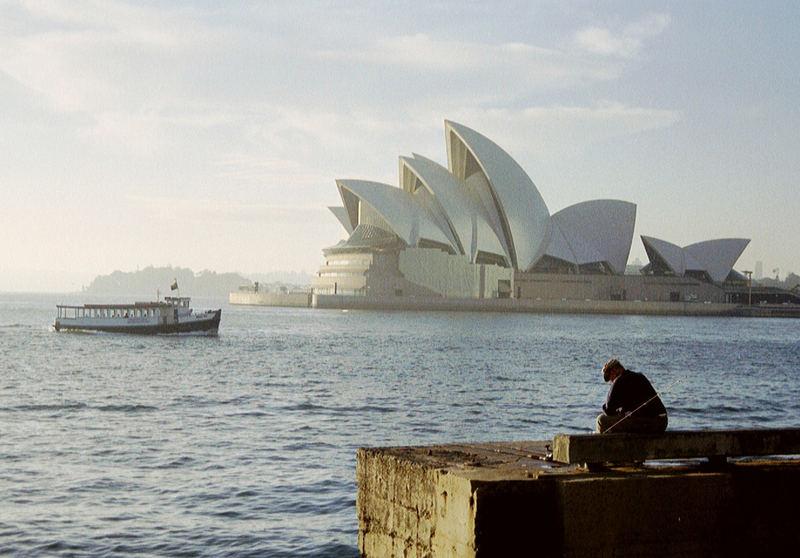 6 Uhr morgens, am Hafen in Sydney