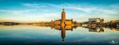 Stockholm's Stadshus im Morgenlicht von flashlens