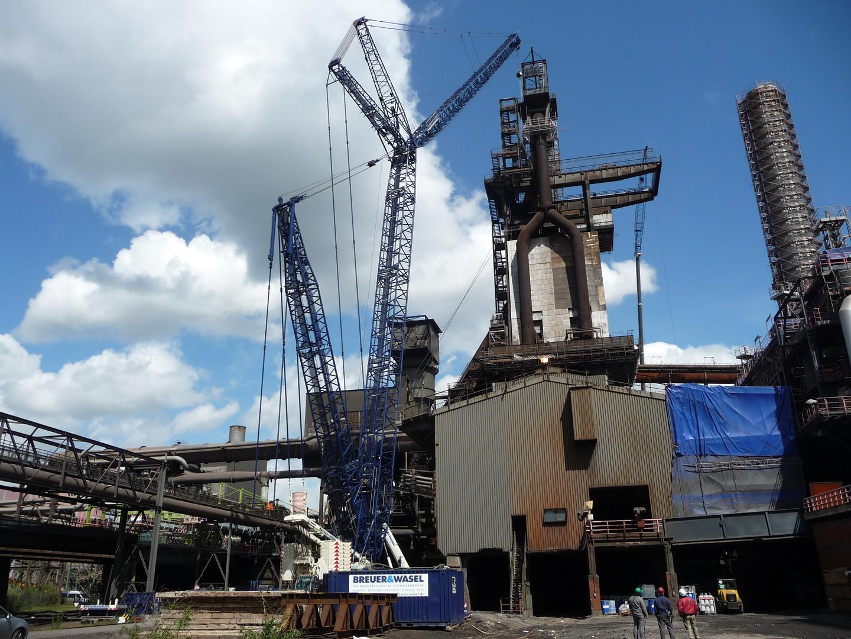 650 tonnen kran am hochofen 9