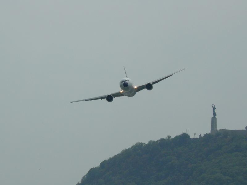 767-300 over Budapest