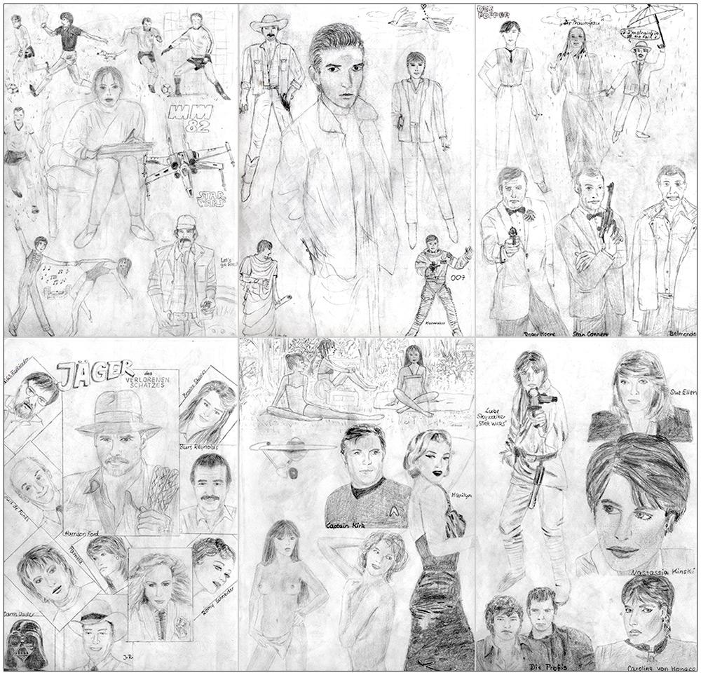 80er jahre teenie fan gekritzel foto bild 2d grafik zeichnungen gemaltes zeug bilder auf. Black Bedroom Furniture Sets. Home Design Ideas