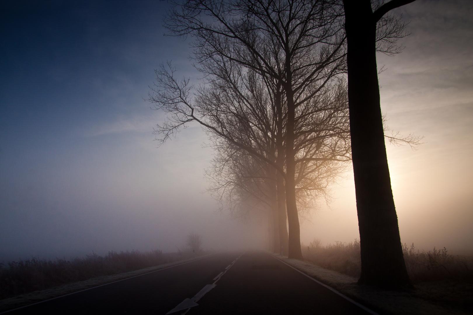 8:57 Uhr Nebelmorgen