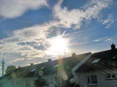 9 Uhr 44 am 19. 10. 2013 schönes Wetter