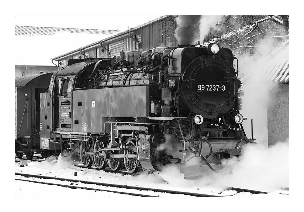 99 7237-3 der Harzer Schmalspur-Bahnen in Wernigerode